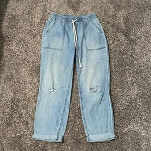 ✨ 2 for $30 ✨ Aerie Distressed Chambray Pants